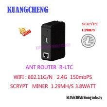 KUANGCHENG ANT MINER R1 LTC miner 1,29 M scrypt miner Litecoin MINER machine использует antminer L3+ chip BM1485 ltc MINER