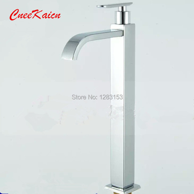 high 304 Stainless steel square heightening kitchen sink faucet ...