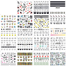 Manicure Sticker 48 A Series Trend Expression Text Art Animal Letter Water DIY Tool