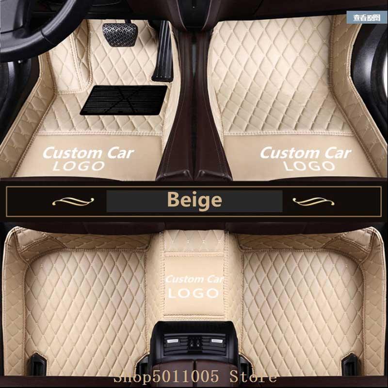 Car floor mats for BMW 3 5 7 Series F20 F30 F10 F11 F01 X1 3 4 5 6 F48 F25 E70 E71 F15 F16 Custom Car floor mat with LOGO