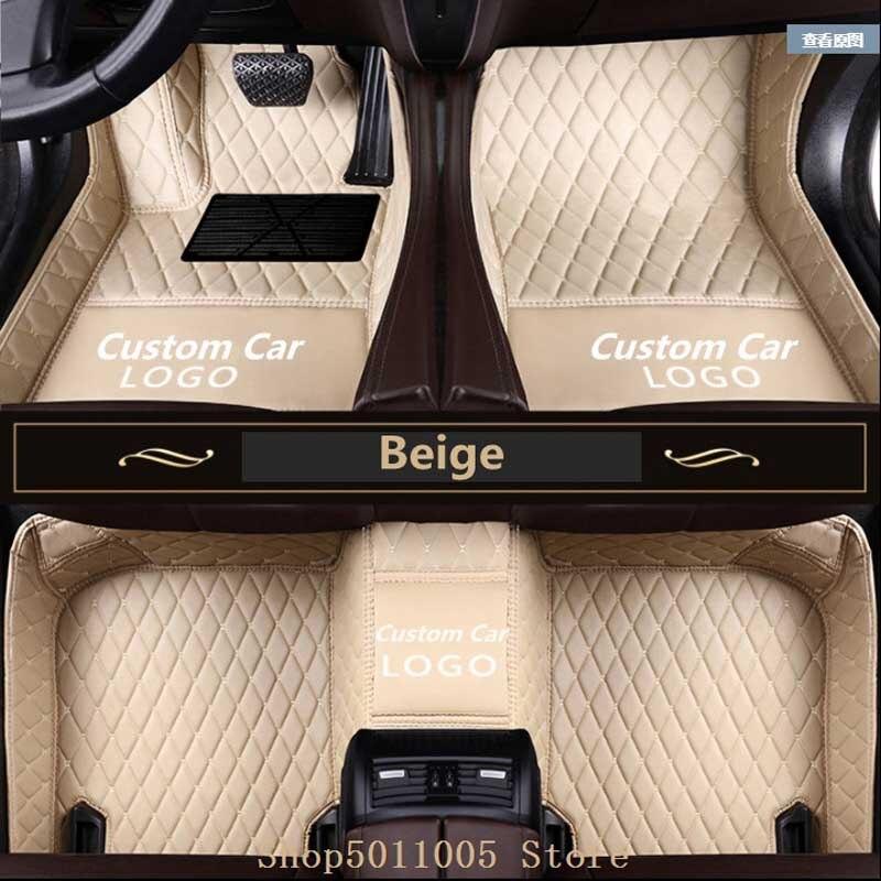 Plancher de la voiture tapis pour BMW 3 5 7 Série F20 F30 F10 F11 F01 X1 3 4 5 6 F48 f25 E70 E71 F15 F16 Personnalisé plancher De la Voiture tapis avec LOGO