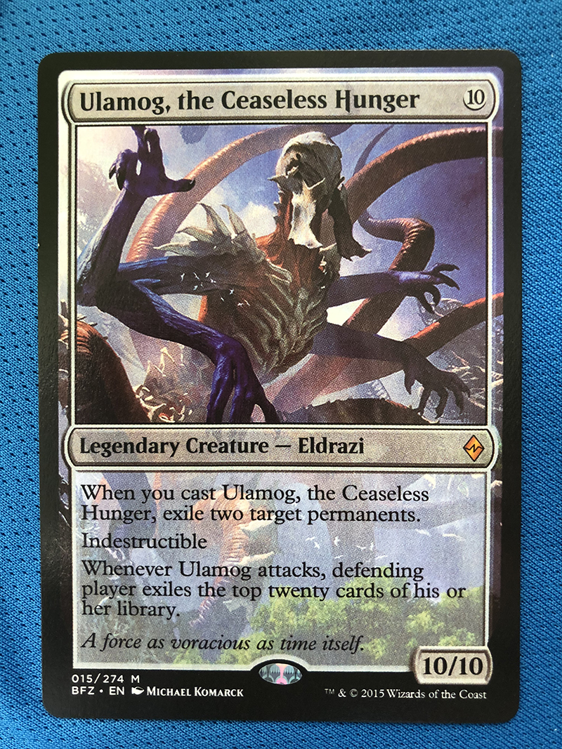 Ulamog, The Ceaseless Hunger BFZ Hologram Magician ProxyKing 8.0 VIP The Proxy Cards To Gathering Every Single Mg Card.