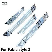 Ультратонкая Накладка на порог из нержавеющей стали для Skoda Fabia Octavia Superb Быстрая