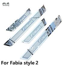 Skoda Fabia Octavia Superb Rapid 용 초박형 스테인레스 스틸 도어 실크 스커프 플레이트 무료 배송