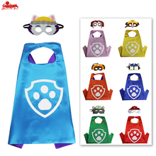 ESPECIAL L 27 * Criança pata do gato capa máscara do traje crianças decoração de aniversário da patrulha cachorro animal rosto máscaras de olho partido do menino vestido