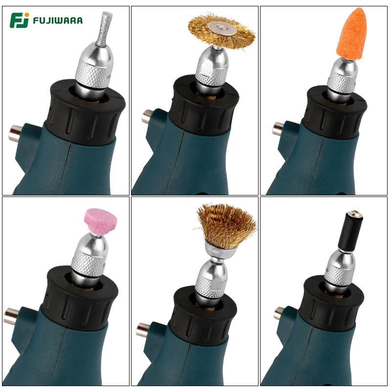 FUJIWARA 12V Lithium Electric Grinder 5-speed Adjustable Electric Drill Electric Grinder Set Engraving Machine Polisher