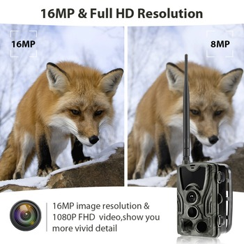2G MMS SMS  SMTP Trail Wildlife Camera 20MP 1080P Night Vision Cellular Mobile Hunting Cameras HC801M Wireless Photo Trap 4