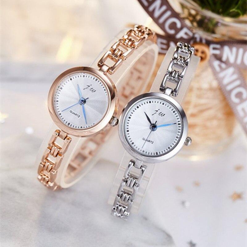 2019 New Fashion Watch Women Luxury Brand JW Bracelet Wrist Watches For Ladies Rose Gold Quartz Watch Clock Relogio Feminino