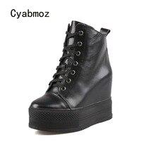 Cyabmoz/Женская обувь на платформе, женские туфли лодочки на высоком каблуке, увеличивающие рост, сникерсы, обувь для вечеринок, Zapatos mujer, женска