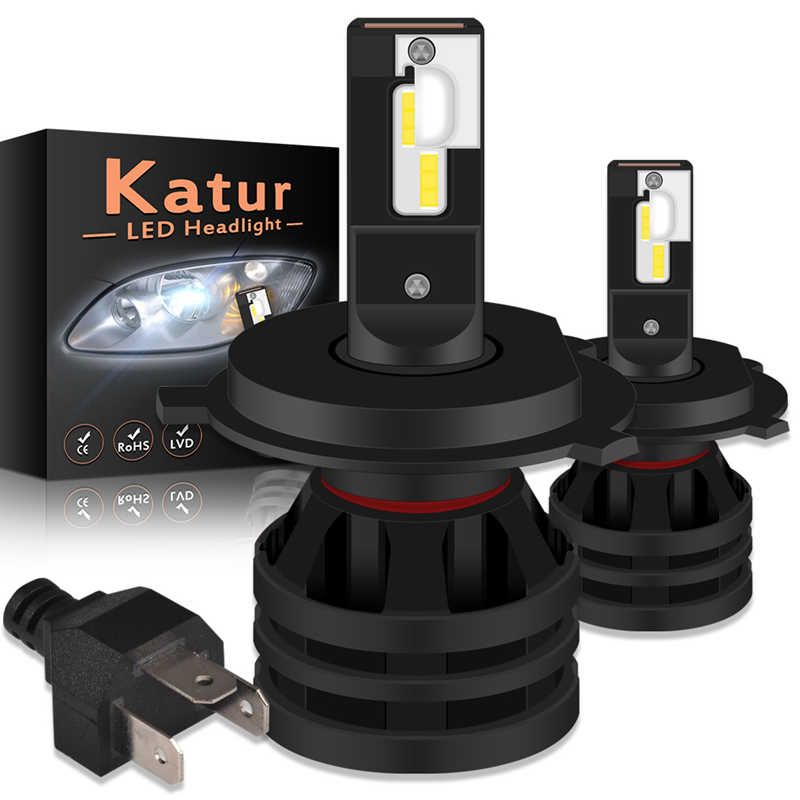Katur H4 12000LM 55W Hi Lo Beam Led Headlight Auto Led Car Light H7 H11 H16 9005 9006 HB3 HB4 H1 Automobile Diode Lamps LED Bulb