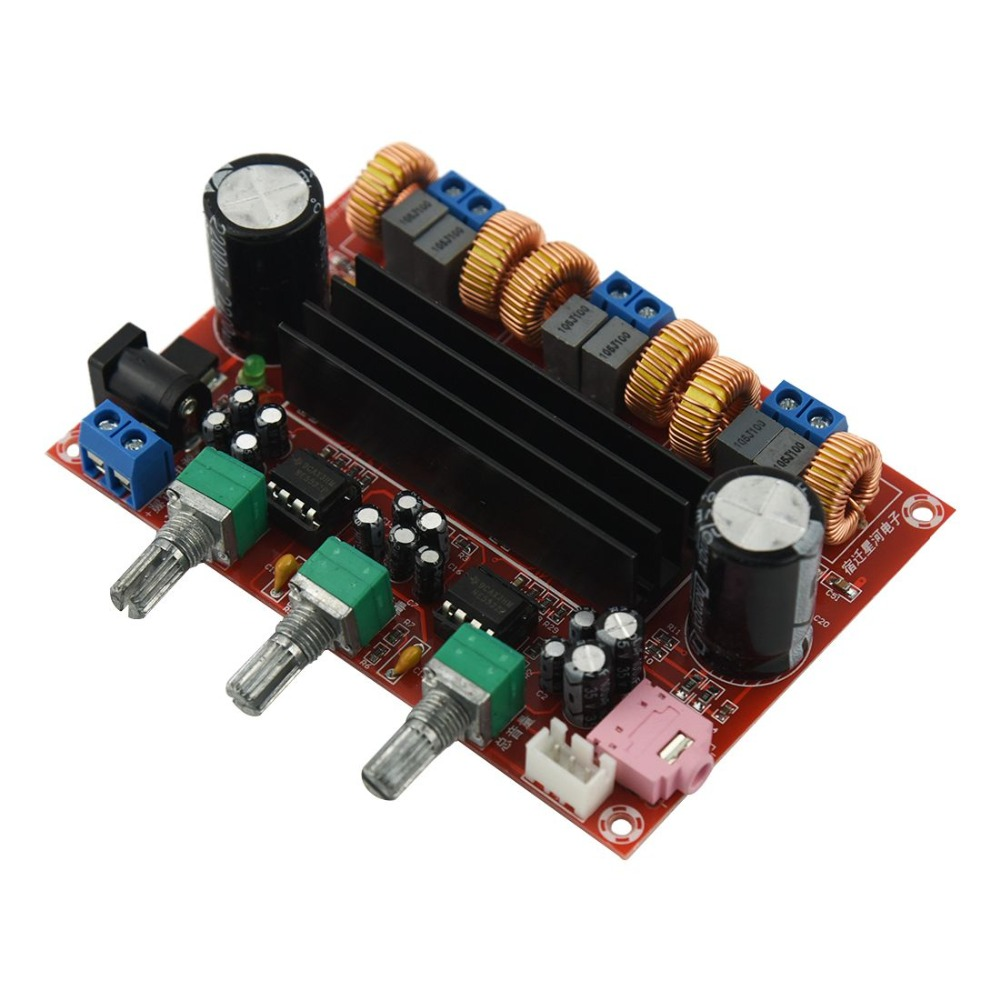 Practical-Amplifier Board TPA3116D2 50Wx2+100W 2.1 Channel Digital Subwoofer Power 12~24V image
