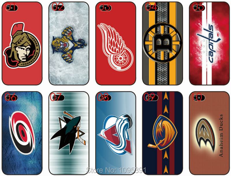 big sale 01e60 ef96c US $16.0 |NHL Hockey Teams logo Clear Transparent Black Mobile Phone Cases  Plastic Hard Cover For Apple iphone 6 6plus Free Shipping on Aliexpress.com  ...