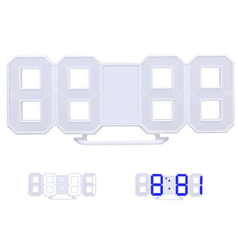 2 Color Light Adjustable Digital LED Table Clock Watches Desk Alarm Clock Snooze Function Electronic Digital Display Desktop
