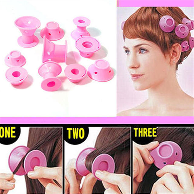 10pcs Lot Silicone Hair Curler Hair Care Diy Roll Hair Style Roller