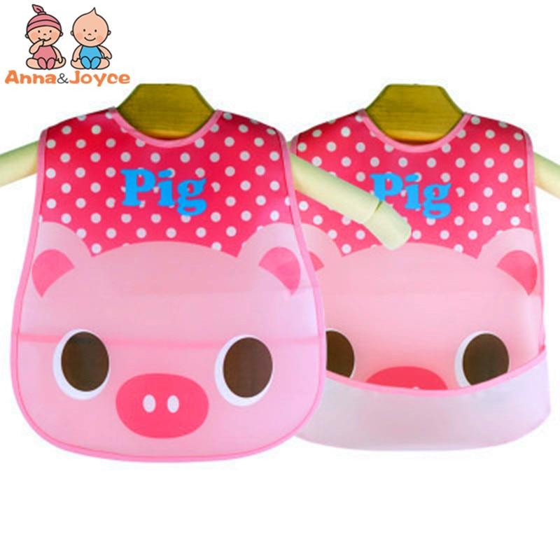1pc Retail! Smeknamn Vattentät Elephant Cartoon Barn Bibs Varumärke - Babykläder