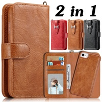 Wallet Leather Case For Samsung Galaxy Note 8 2 In 1 Detachable Card Holder Magnetic Cover