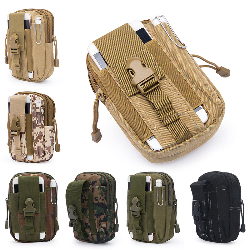 2018 Men Waist Pack Bum Bag Pouch Waterproof Military Belt Waist Packs Molle Nylon Mobile Phone Wallet Travel Bag universal waist belt bag pouch outdoor tactical holster military molle hip purse phone case