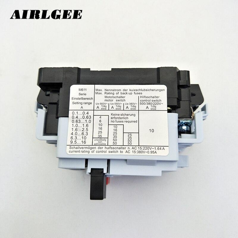 con carcasa ip55 20,00a 16,00a Dol ms20, Protección del motor interruptores protección del motor