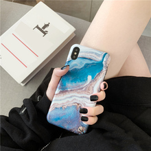 Blue ink painting marble Phone cases For iPhone 7 case S Matte Soft TPU case for iphone 6s 6 7 8 plus XR XS Max cover capa oaxis inkcase ivy e ink reader for iphone 8 7 6s
