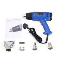 2000W LCD Display Heat Gun Industrial Electric Hot Air Gun Thermoregulator Universal Heat Gun Shrink Wrapping Thermal Power Tool
