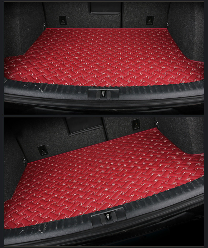 Custom special car trunk mats for Chery QQ QQ3 QQ6 A1 E3 A3 A5 TIGGO 3 5 3X 5X 7 CLOUD 2 waterproof durable cargo rugs carpets full covered waterproof boot carpets durable custom special car trunk mats for mazda 2 3 5 6 8 atenza axela cx 5 3 7 9 mx 5