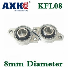 Axk Kfl08 Fl08 Flange Bearing With Pillow Block 8mm Caliber Zinc Alloy Pillow Block Bearing Mounted Cast Housing Self-aligning