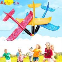 48CM Hand Throw Flying Glider Planes  Ultra-light Throwing Plane Model Toys for Children