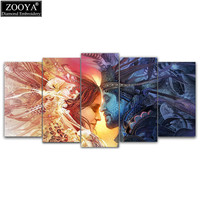 Zhui Star 5d Diy Diamond Embroidery Royal Couple 5pcs Multi Picture Combination Diamond Painting Cross Stitch