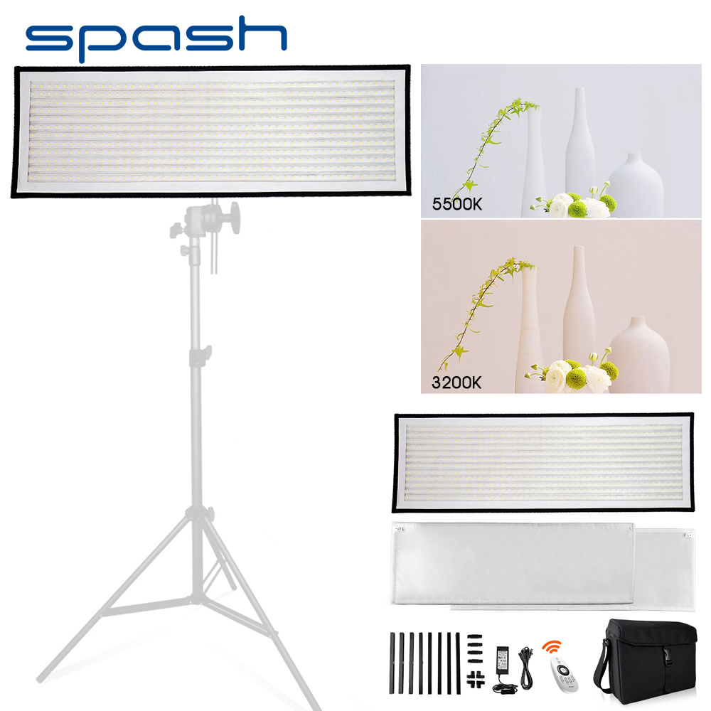 spash FL1x3A LED Video Light Photography Light Bi-color 3200K-5600K Portable Flexible LED Panel Studio Lamp 576 SMD LEDs CRI95 осветитель greenbean ultrapanel 576 led