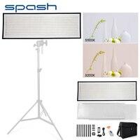 spash FL1x3A LED Video Light Photography Light Bi color 3200K 5600K Portable Flexible LED Panel Studio Lamp 576 SMD LEDs CRI95