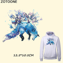 ZOTOONE Fashion Butterfly Wolf Iron on Patch for Clothing Washable Print T-Shirt Clothes Decoration New Design DIY Accessory