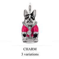 Free Shipping Wholesale Super Deal Pink Dog Charms Pendants Lovers New Arrival Birthday Gift Ts Tms