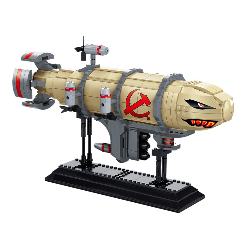 KAZI Kirov Army Airship Red Alert 3 DIY Model Building Blocks Brick Set Collection Lepin Educational Toys For Children Gifts