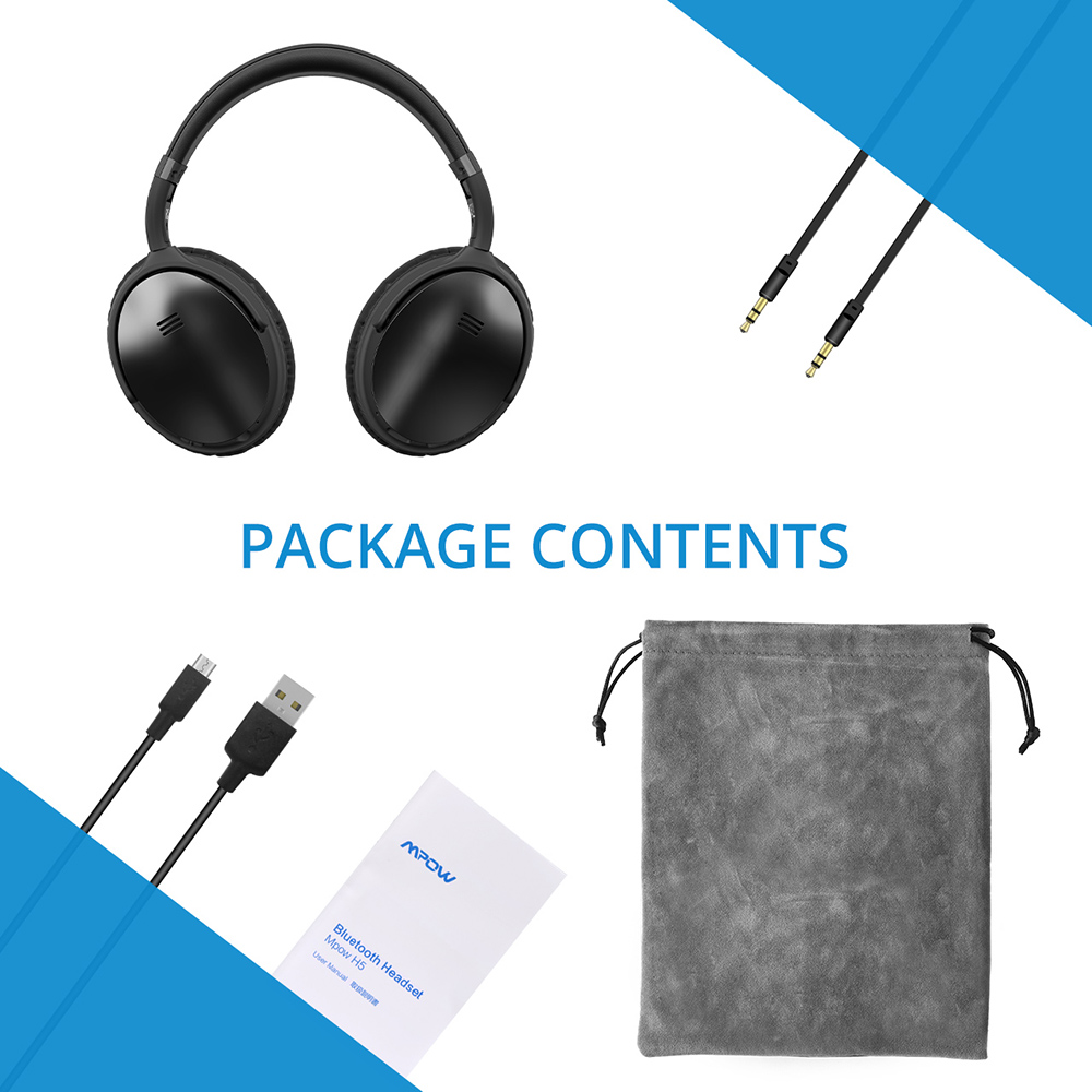 Image 5 - 2 Gen 2nd Mpow H5 Noise Cancelling Bluetooth Headphones with Microphone Over Ear Wireless Headset for HiFi Stereo&18Hrs Playtime-in Bluetooth Earphones & Headphones from Consumer Electronics