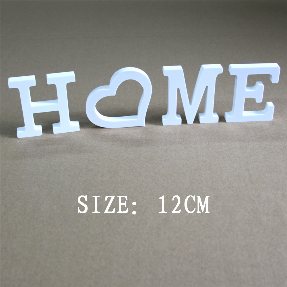12CM Wedding  Decoration Artificial  Wood wooden Letters Wedding Birthday Home wedding decoration White Letters for name or logo