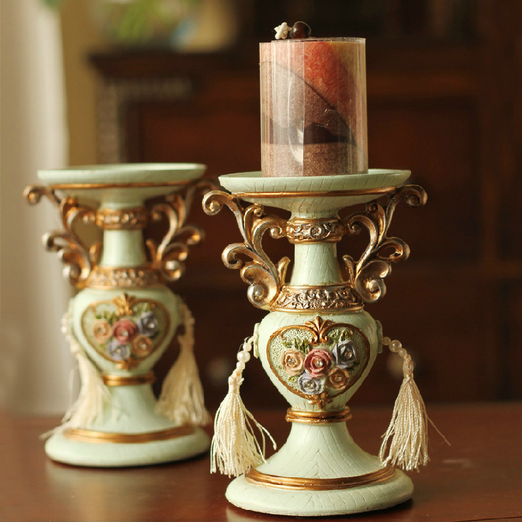 Do the old European style retro decorative candlestick ... on Antique Style Candle Holder Sconces id=23730