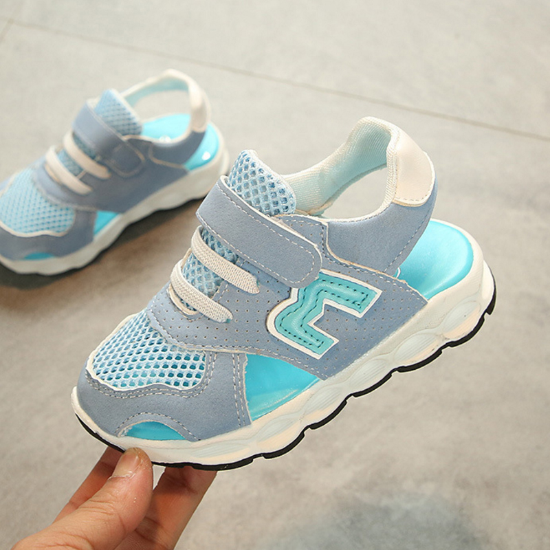 New Summer Fashion Children Sandals Kids Sandals For Girls Boys Cute Baby Girl Closed Toe Sandals Toddle Boy Mesh School Shoes ...