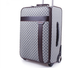 BOLO BRAVE Men Original Password PU leather Luggage Board Chassis Business Suitcase Bag Women 20 24 inch travel Trolley Case