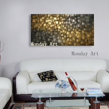 Aritist 100% Hand painted Modern Gold Abstract Oil Painting Canvas picture for Living Room home Decor Wall Paintings