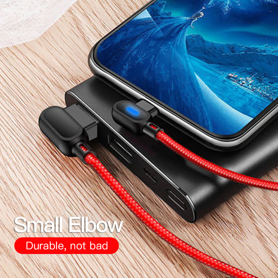 !ACCEZZ 90 Degree Micro USB Cable Fast Charging For Xiaomi Redmi Note 5 Pro Samsung S6 S7 Huawei Tablet Android Data Sync Cables (1)