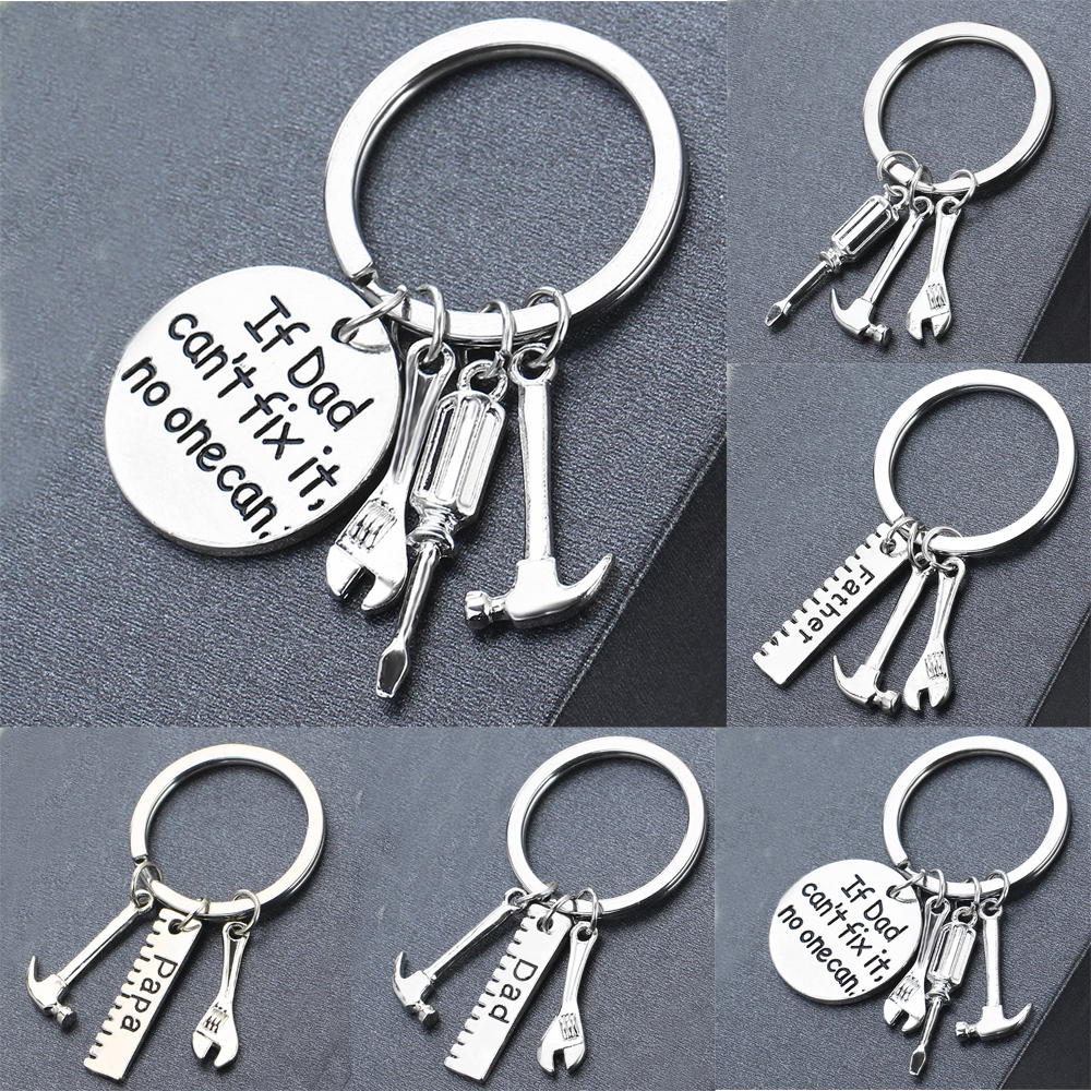 Papa Dad Key Chain Fathers Day Gifts For Dad Daddy Key