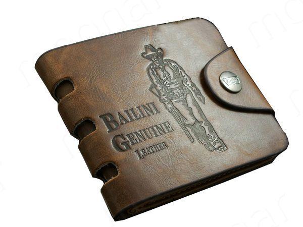 2018 Hot New Cowboy Men's PU Leather Bifold Wallet Multi Pockets Purse Passcase Vintage Style Wallet