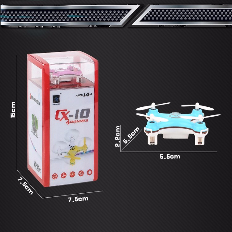 MINI RC Helicopter Cheerson CX-10 CX10 Mini Drone 2.4G 4CH 6 Axis LED RC Quadcopter Toy Helicoptero with LED light Toys for Kids (10)