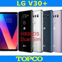 LG V30+ Dual H930DS разблокированный GSM 4G LTE Android Dual Sim Восьмиядерный ОЗУ 4 Гб ПЗУ 128 ГБ 6,0 дюйма 16 МП и 13 МП сотовый телефон NFC