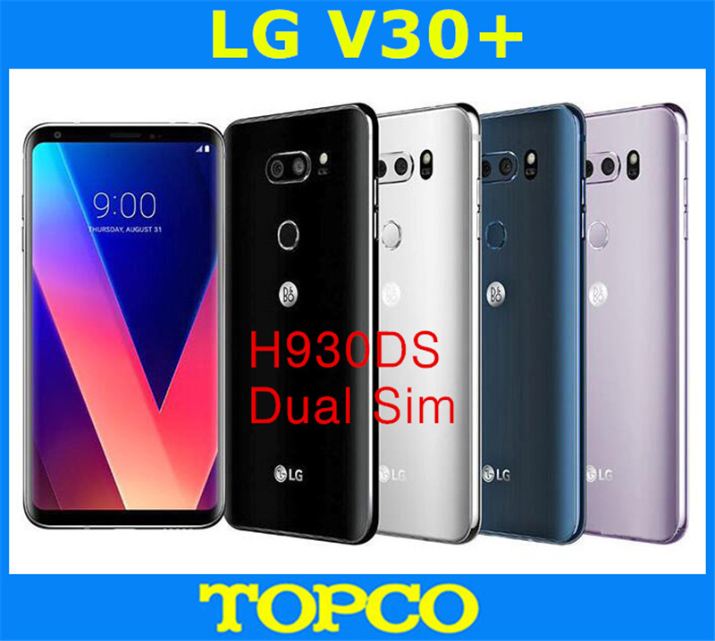 "LG V30+ Dual H930DS Original Unlocked GSM 4G LTE Android Dual Sim Octa Core RAM 4GB ROM 128GB 6.0"" 16MP&13MP Cell Phone NFC