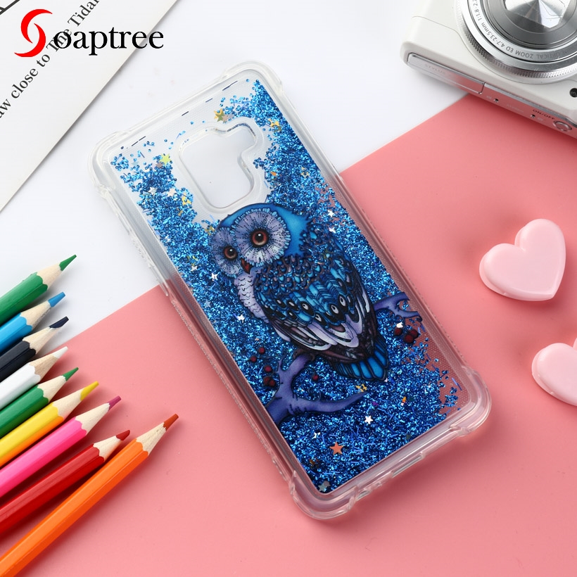 Glitter Liquid Silicone Cases For <font><b>Samsung</b></font> Galaxy A5 <font><b>A8</b></font> J2 J3 J5 J7 Pro Duos 2016 2017 <font><b>2018</b></font> S6 S7 S8 S9 Edge Plus Case TPU Cover image