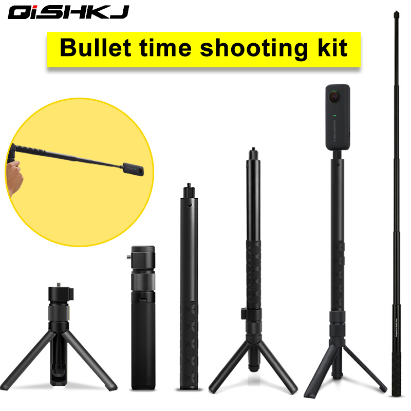 Insta360 One X Bullet Time Bundle Rotation Handle +1/4 Selfie Stick Handheld Monopod For Sport Action Camera  Insta360 One X