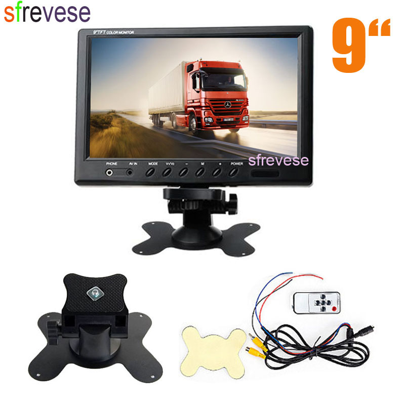 9 TFT LCD Car Rear View Screen Monitor For Reversing Parking Backup Camera Bus Truck DVD VCD 12V 24V