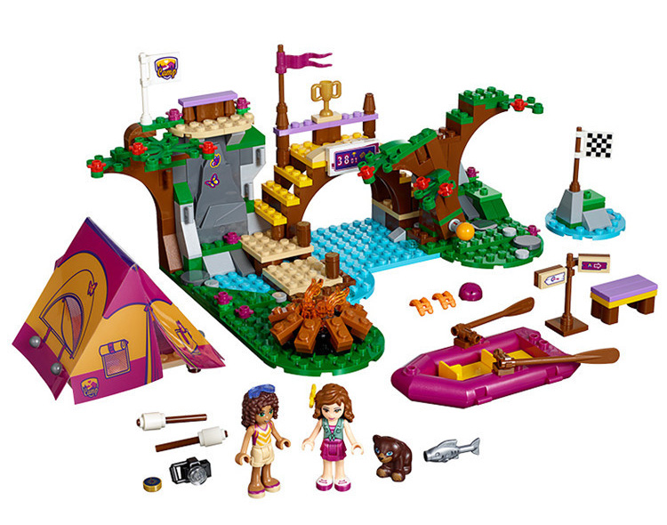 2017 NEW Friends For Girl Building Brick Blocks 41121 Adventure Camp Rafting Set Children Gift Kids Toys Compatible with Lepine 2017 hot sale girls city dream house building brick blocks sets gift toys for children compatible with lepine friends