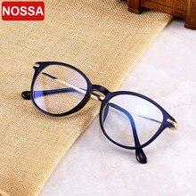 Tendência nova moda tr óculos de luz anti-azul requintado metal oval óculos quadro literário homem e mulher decorativo espelho plano.